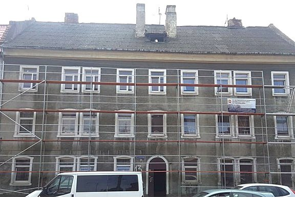 Главный фасад дома, вид до ремонта