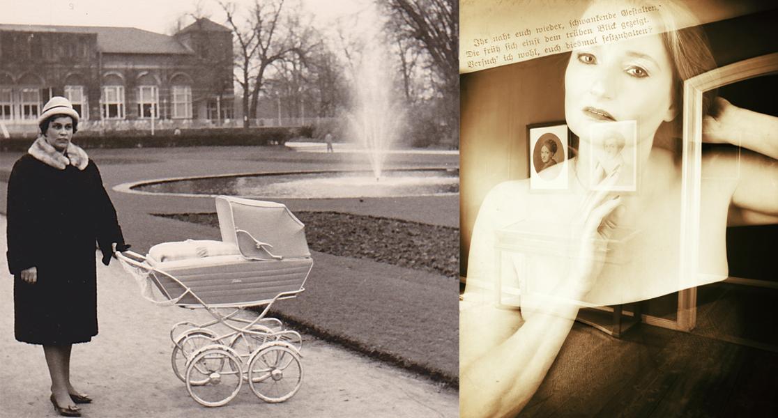 Frauenpläne! - Elvira in Goethes Wohnhaus, Am Frauenplan, in Weimar - links ein durchkreuzter Frauenplan