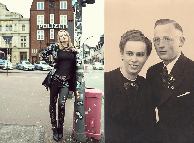 Zwischen beiden Bildern versteht durchaus ein Zusammenhang, der meine Mutter und Elvira recht gut beschreibt