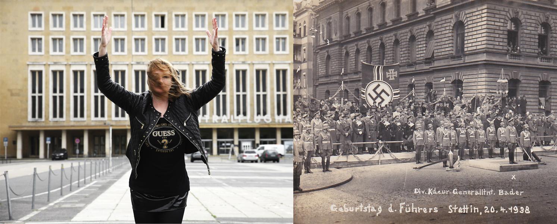 Platz der Luftbrücke in Berlin und Führers Geburtstag in Stettin; Bild aus dem Nachlass des 1.Mannes meiner Mutter