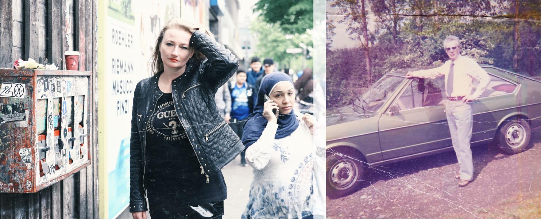 Nicht mehr Dein Land! - Mein Vater vor seinem Passat; Elvira in Berlin Neukölln, Sonnenallee