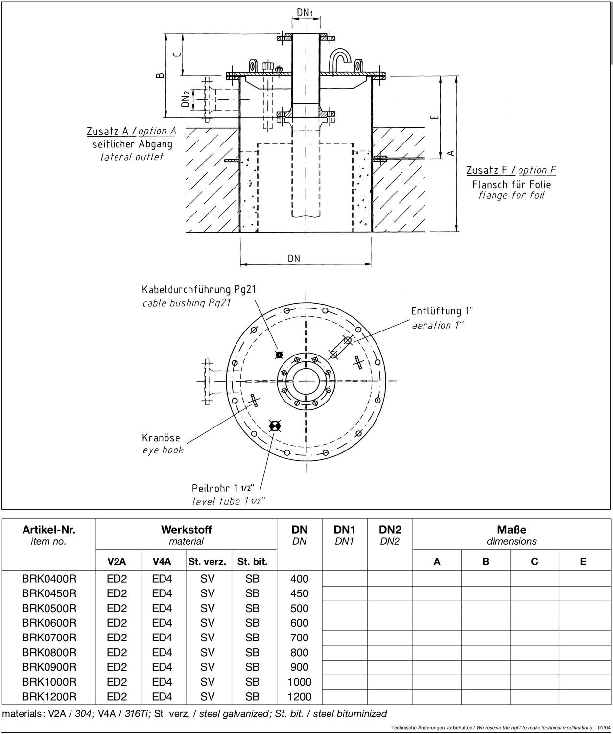 e30 brunnenkopf nach din 4926 vielberth fritz gmbh co kg. Black Bedroom Furniture Sets. Home Design Ideas