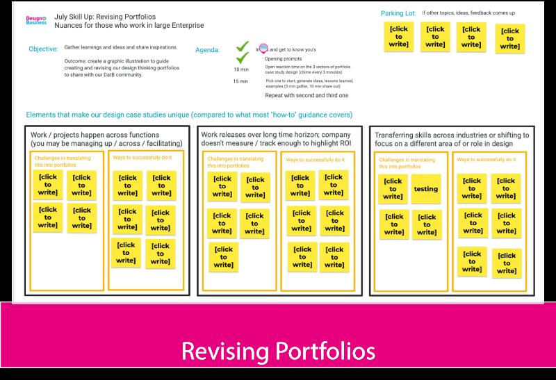 Revising Portfolios with Design Thinking