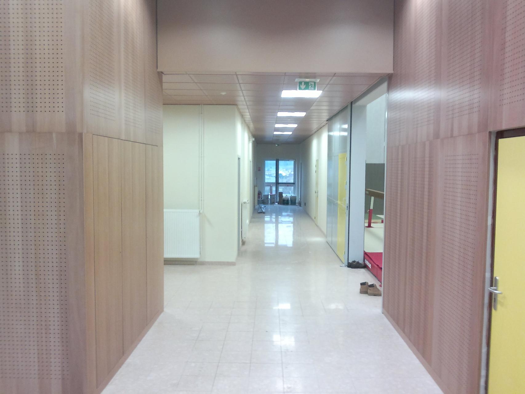 L'entrée vers les vestiaires.