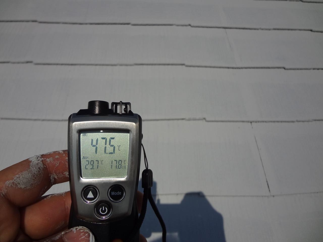 キルコート一層目塗布後表面温度47.5℃
