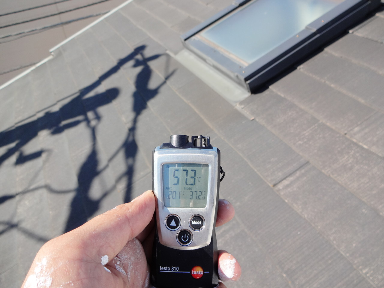 塗布前生地温度(同形状建物)