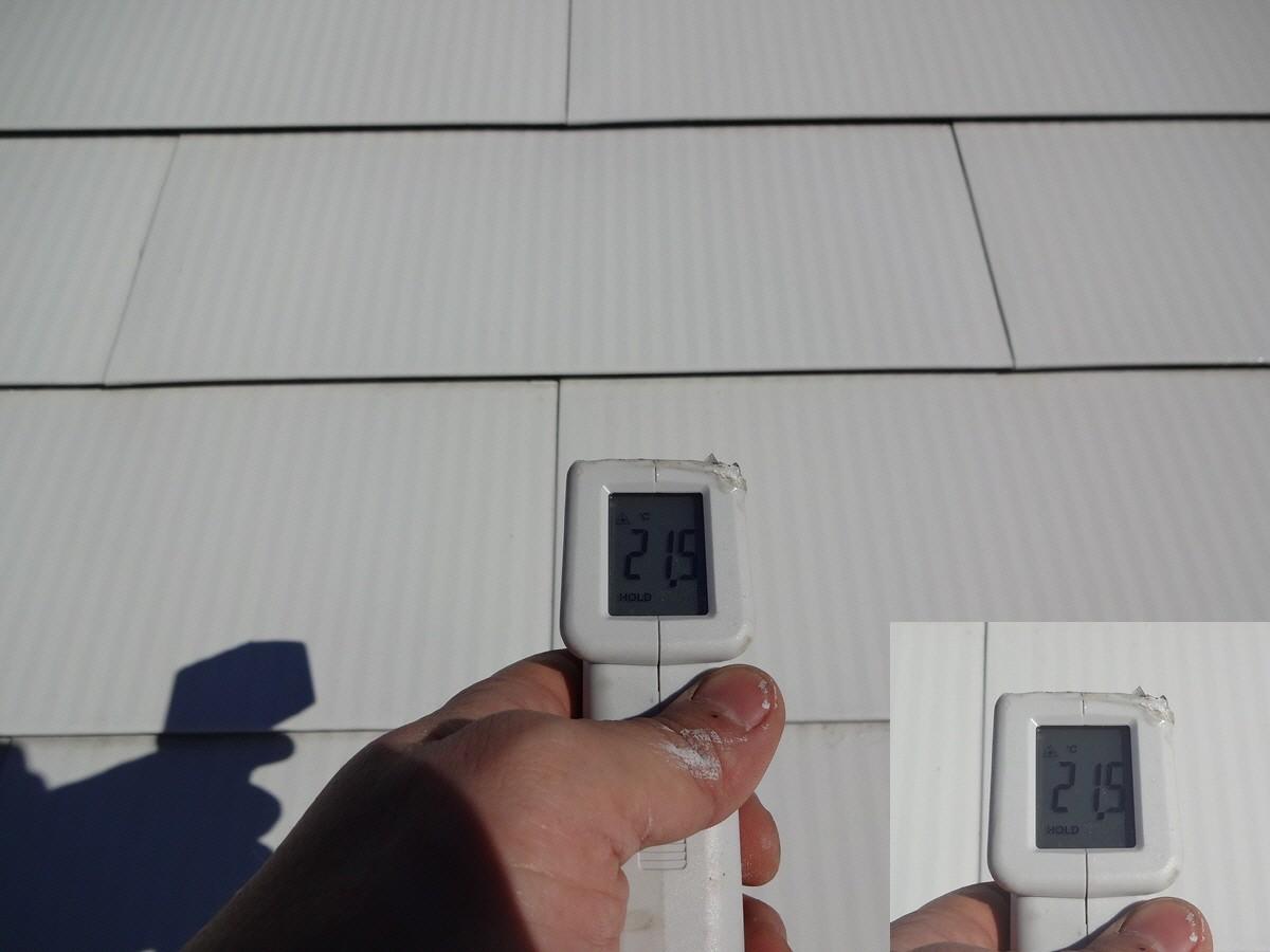 遮熱塗布面生地温度21.5℃