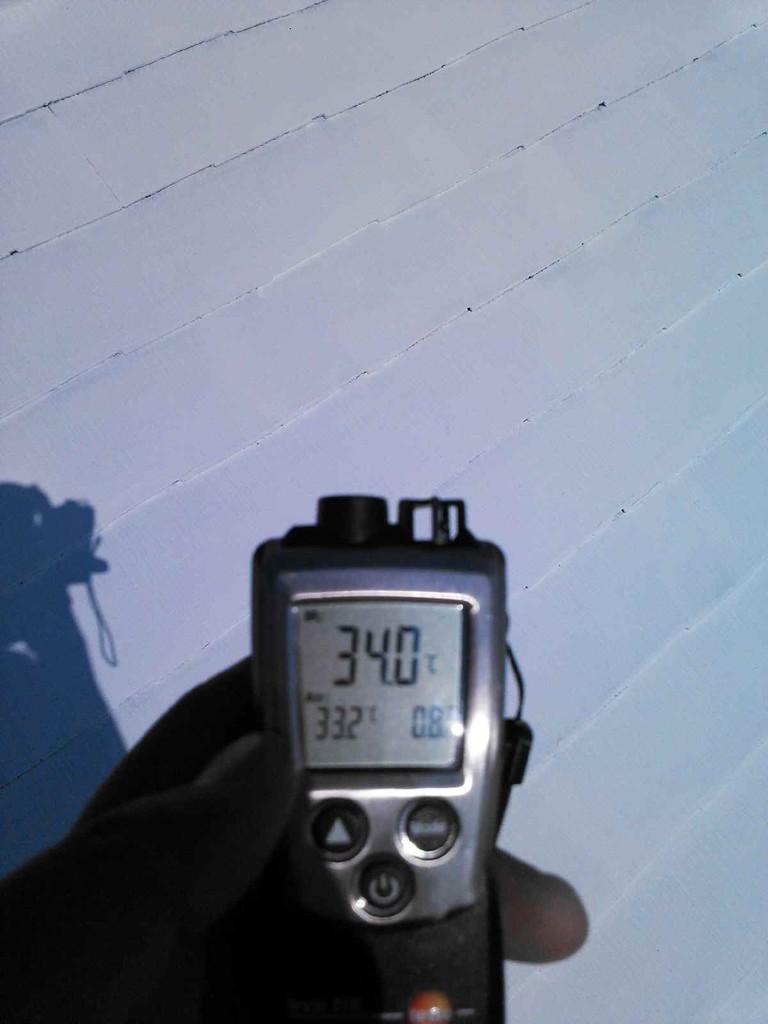 2層目塗布後表層温度