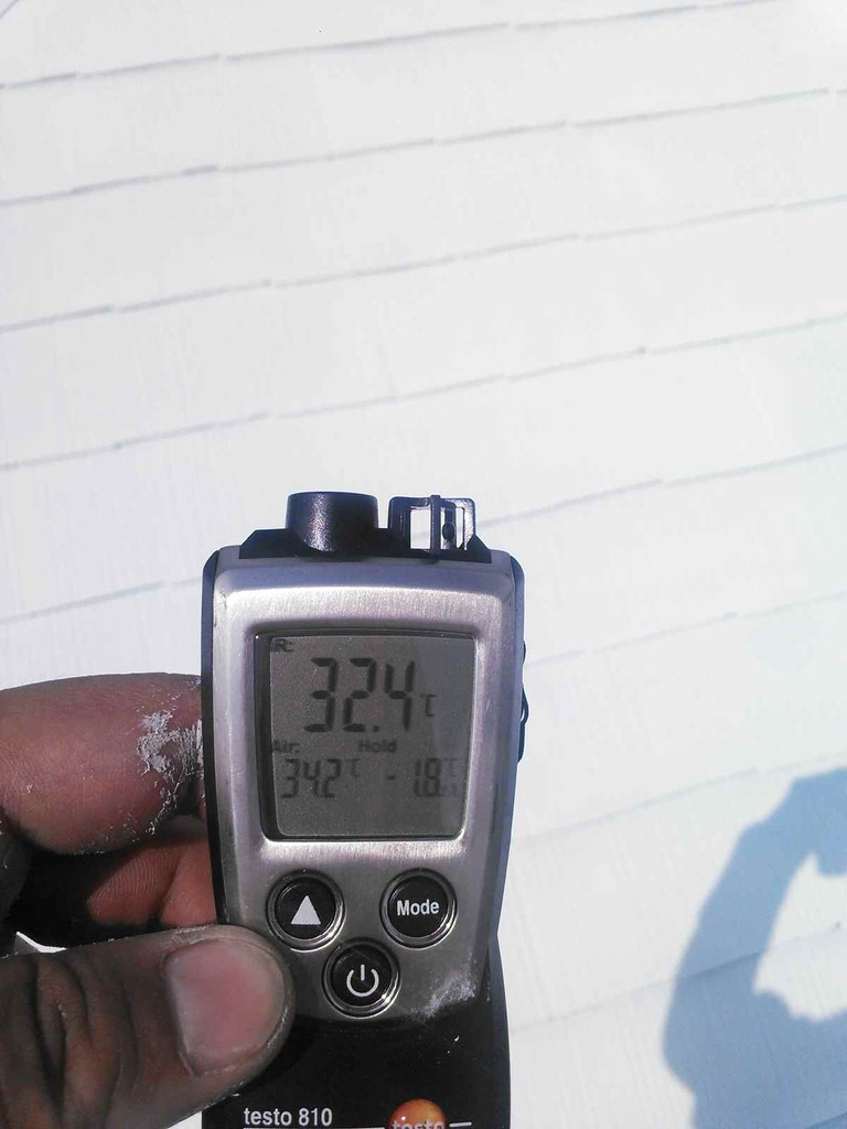 3層目塗布後表層温度