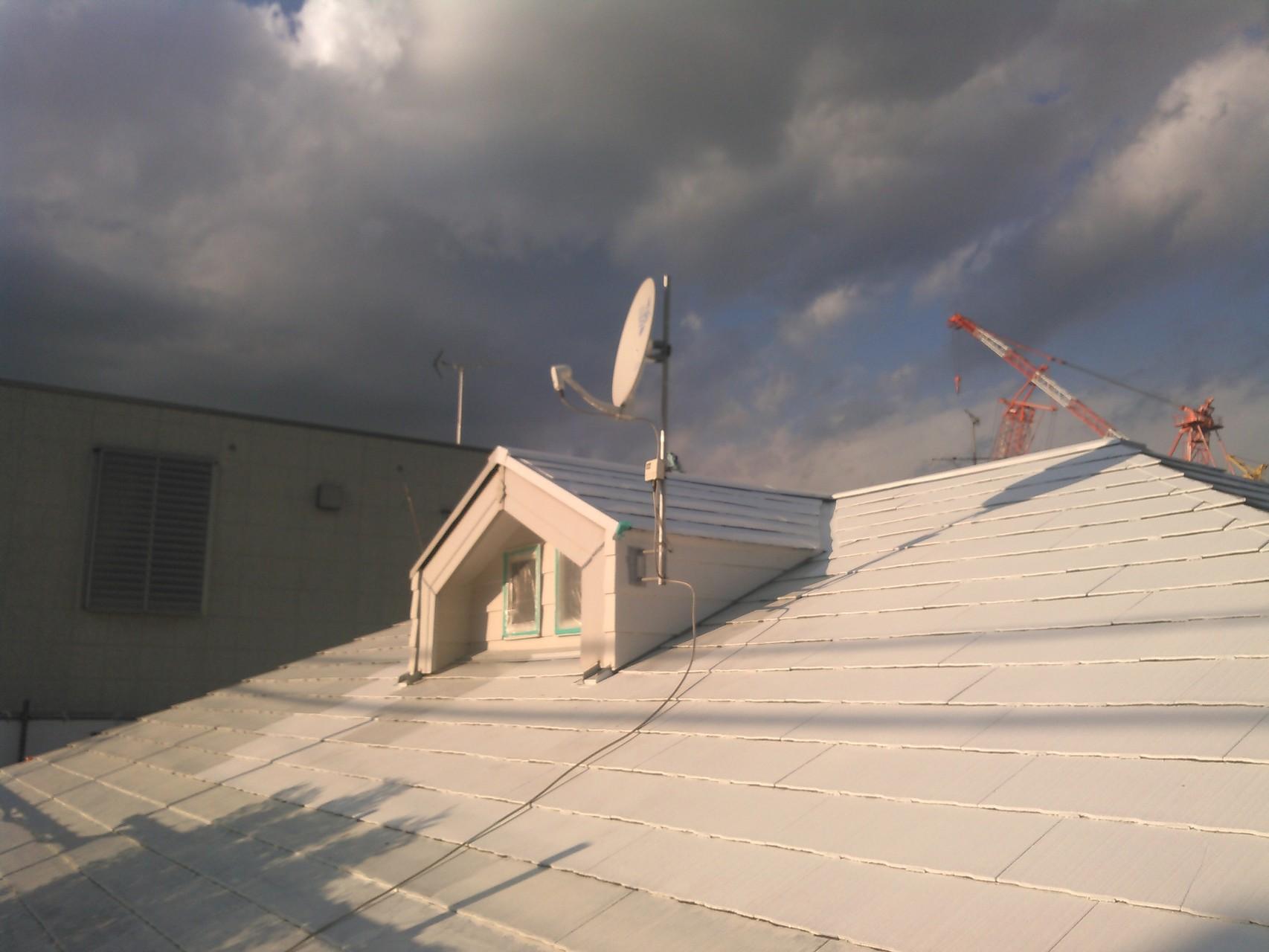 太陽光高反射エポキシ樹脂下塗り&ウレタン樹脂断熱塗装