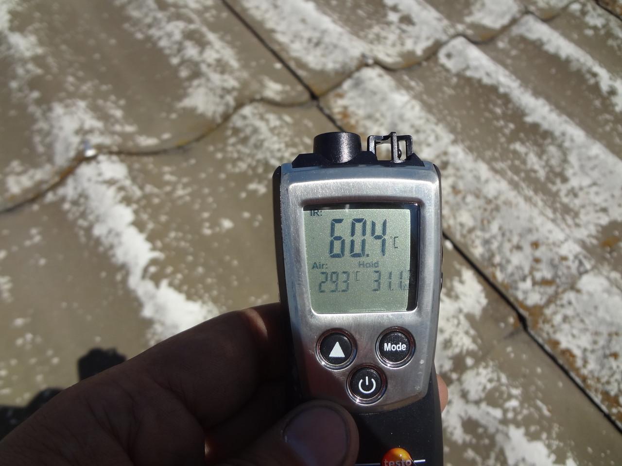 キルコート塗布前表層温度