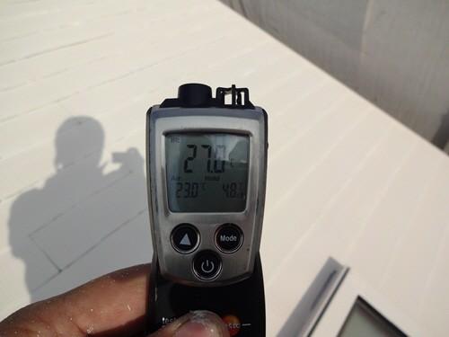 キルコート3層目塗布後生地温度