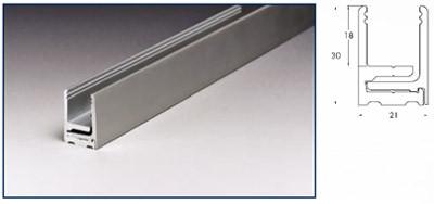 Separadores de oficina de aluminio y vidrio