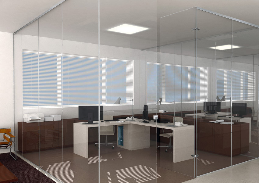 Paredes de vidrio para oficinas seeglass fix aluminios no in gar s - Cerramientos de vidrio para interiores ...