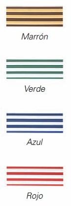 Colores de las cortina antimoscas de plastico Iris