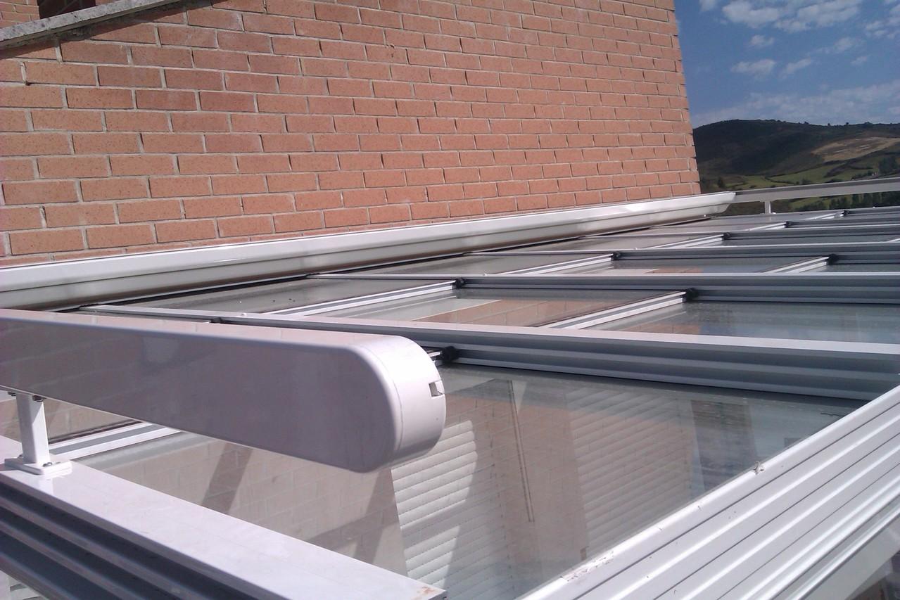 toldo para techo cristal