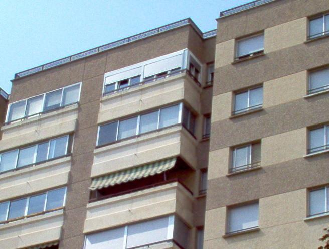 Vista exterior de cerramiento de terraza