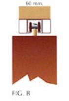 Modelo B puerta plegable pvc