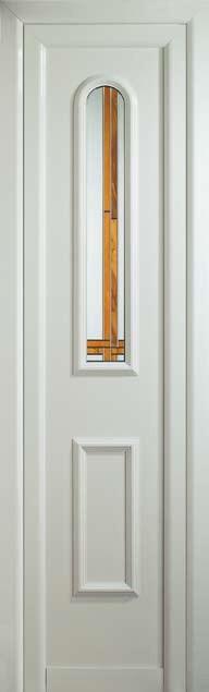 Puerta de entrada segunda hoja o fijo Támesis con vidrio capilla vidriera