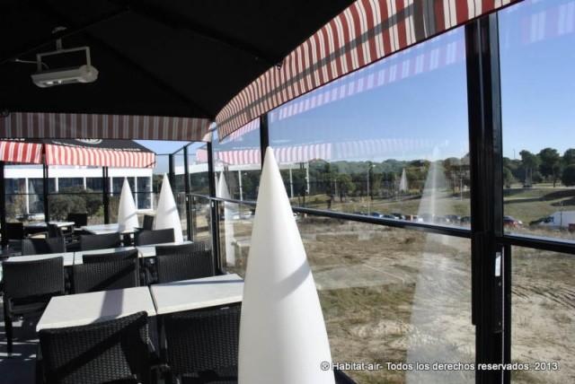 Cortavientos vidrio restaurantes