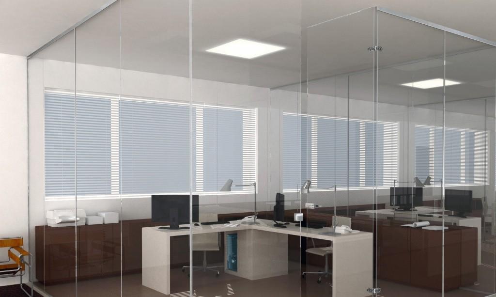 Paredes de vidrio para oficinas seeglass fix aluminios no in gar s - Cerramientos de cristal para cocinas ...
