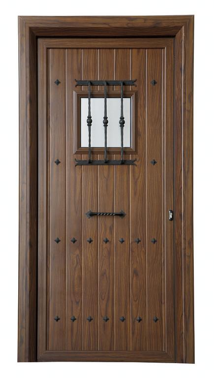 Panel de puerta de entrada rústica