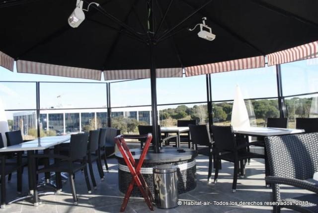 Cortavientos terraza restaurante