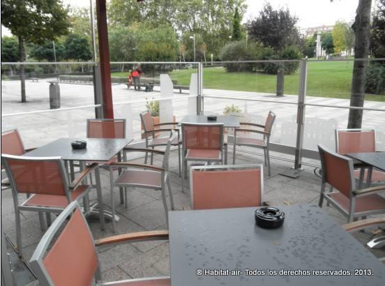 Separadores restaurante exterior