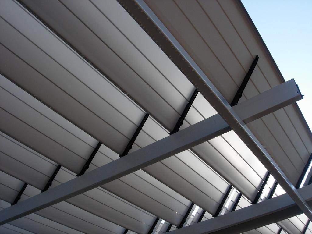 Techo retráctil de aluminio