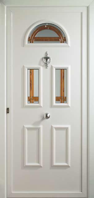 Puerta de entrada aluminio vidrio Capilla