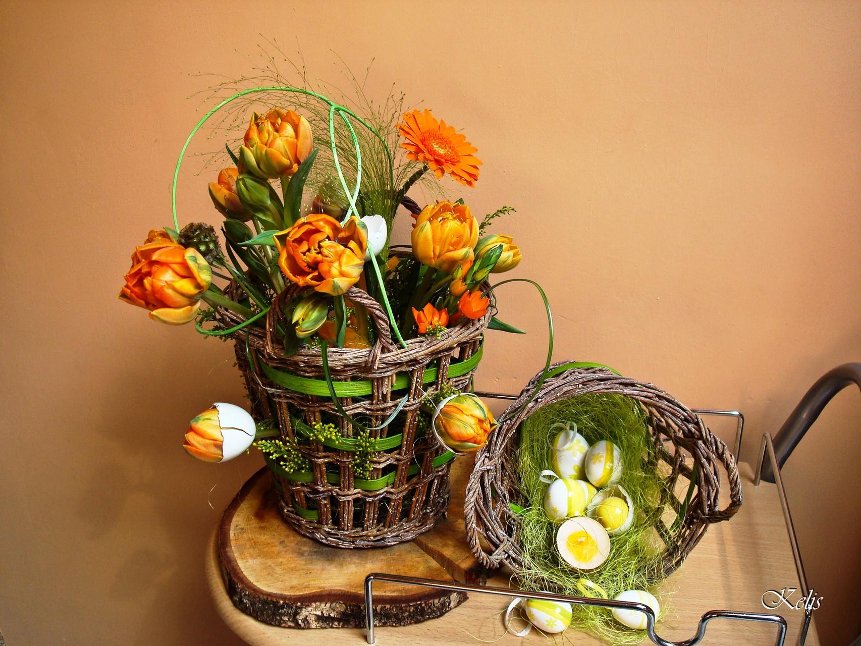Composition florale printemps
