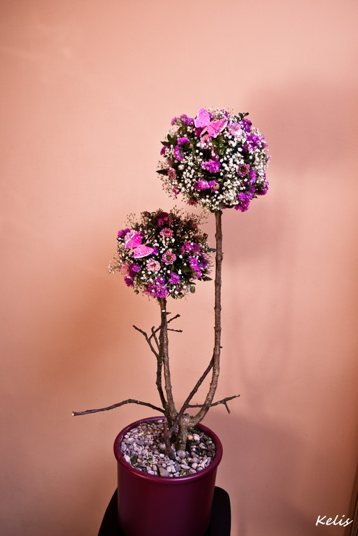 art floral, arbre fleuri