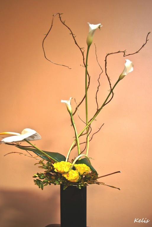 art floral, composition moderne
