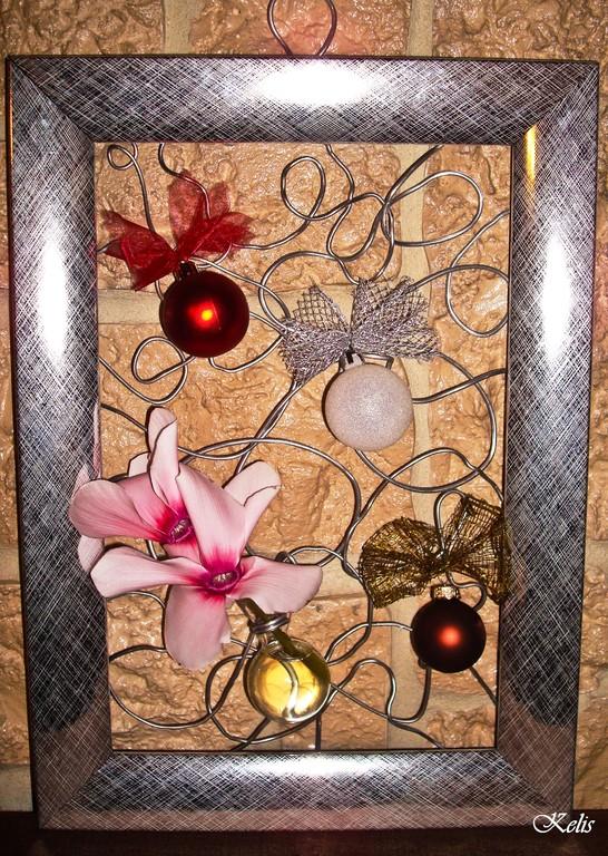 Cadre fleuri pour  Noël
