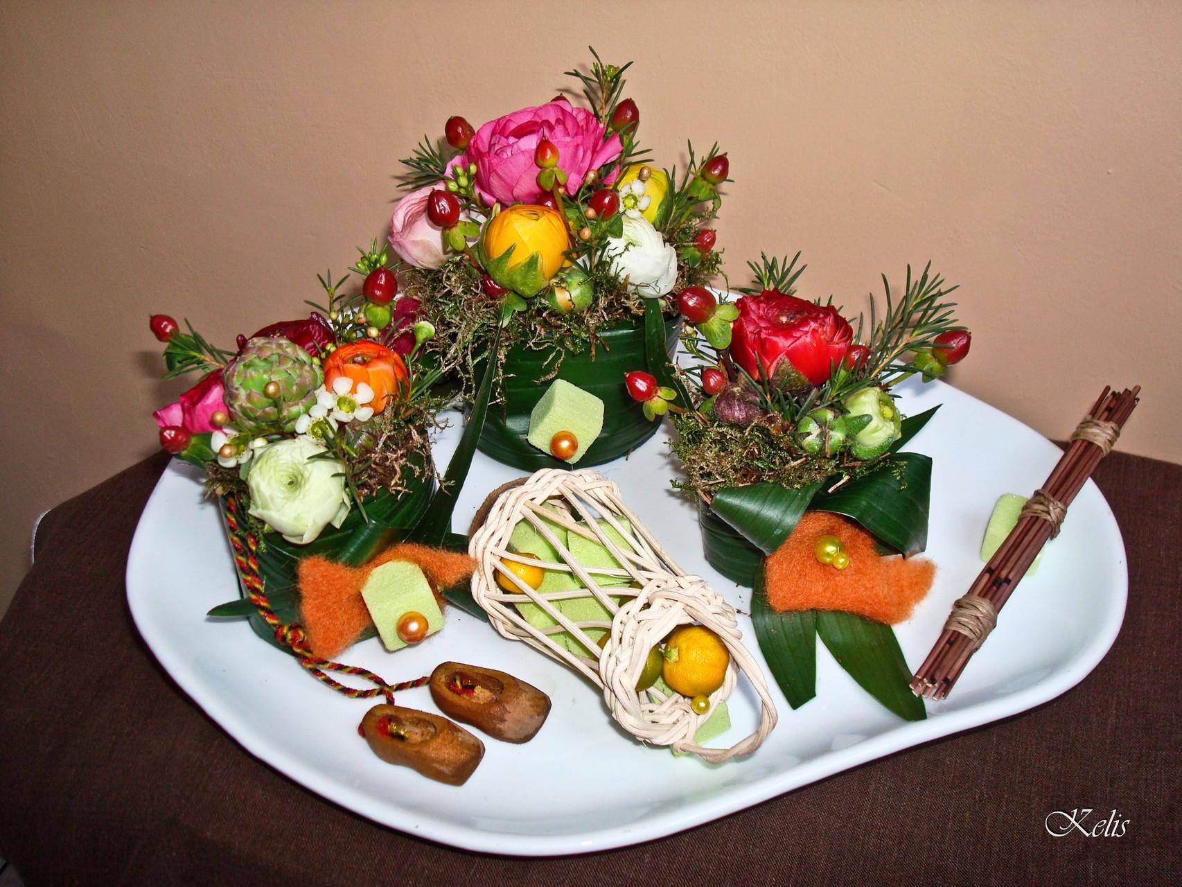 arrangement floral pour carnaval