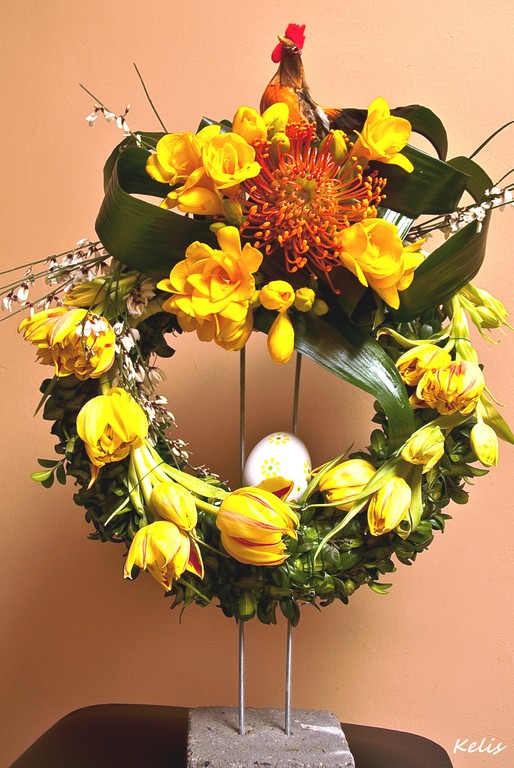 Composition florale printemps, de Pâques
