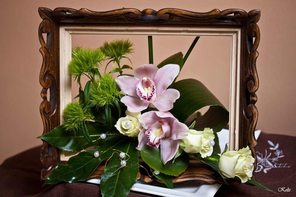art floral - cadre photo fleuri