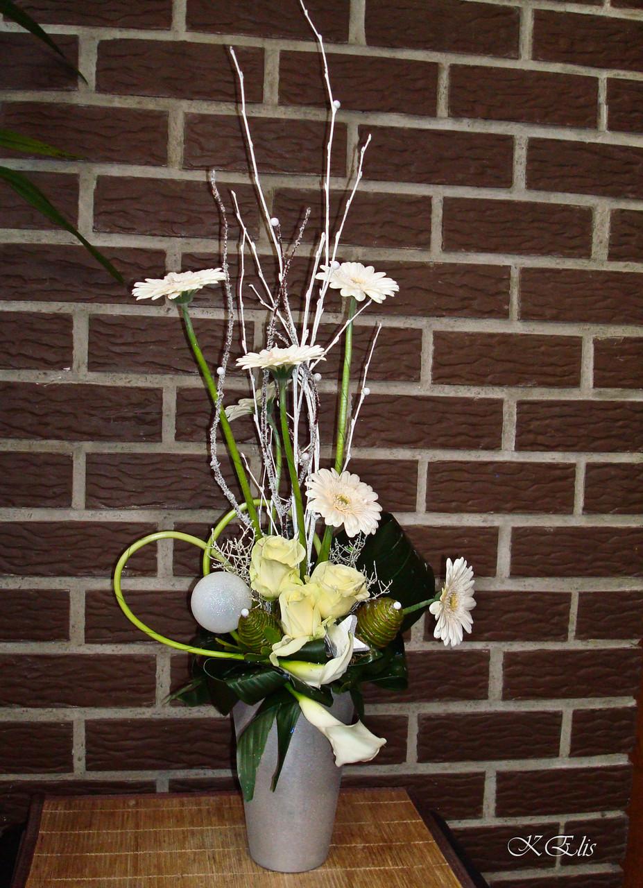 Composition florale de Noël