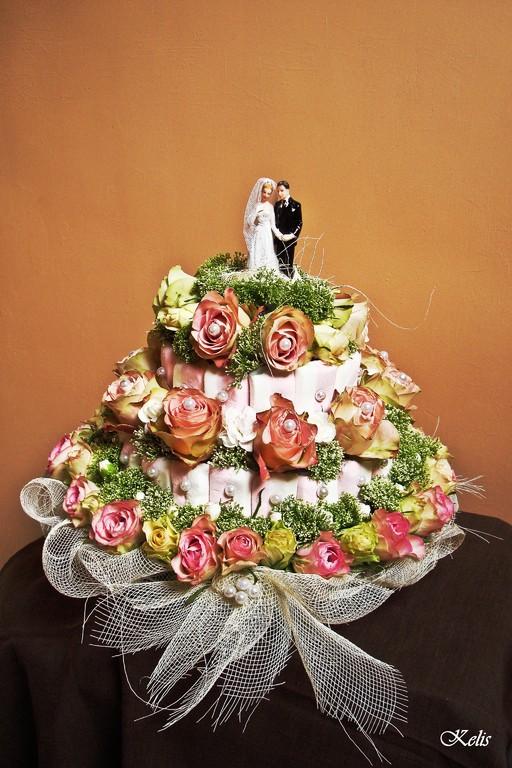 Gâteau floral pour mariage