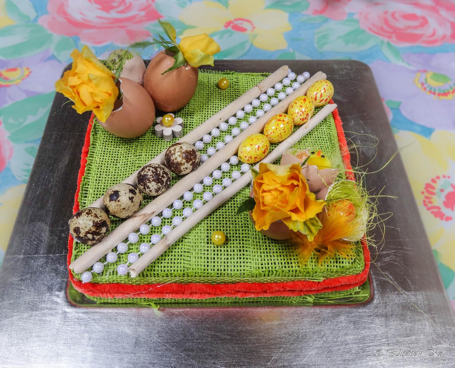 art floral, gâteau de Pâques