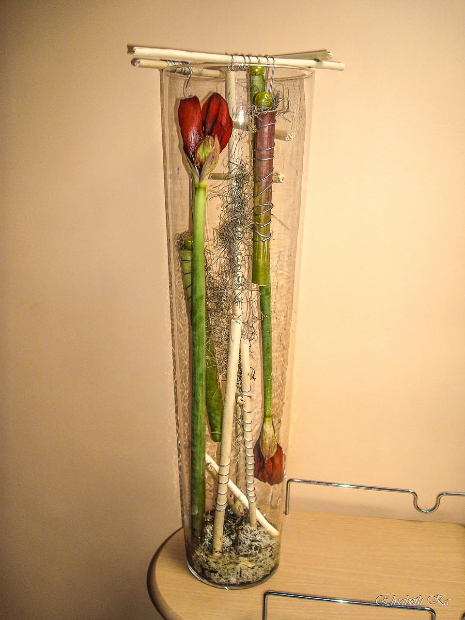 Composition florale, vase