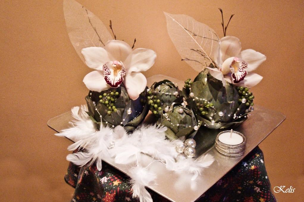 arrangement floral d'hiver