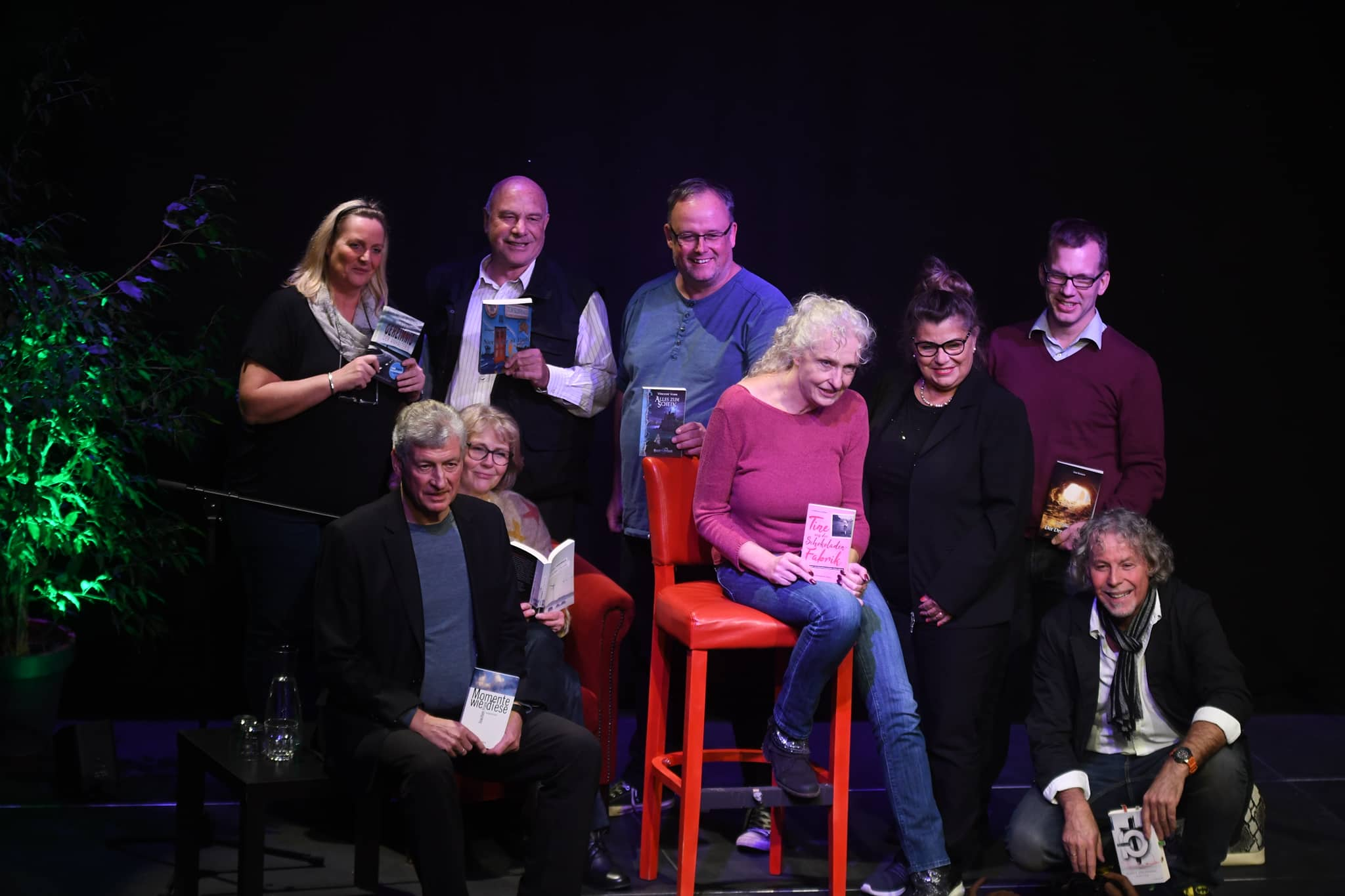 Alle neun Autoren der Vorlesenacht