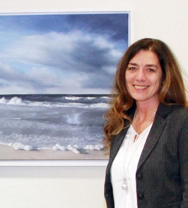 Anja Saalberg mit einem ihrer wunderbaren Werke