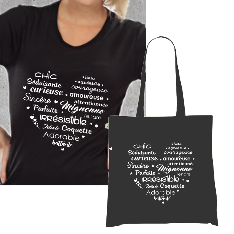 cheap price fresh styles new product T-shirt et sac a course