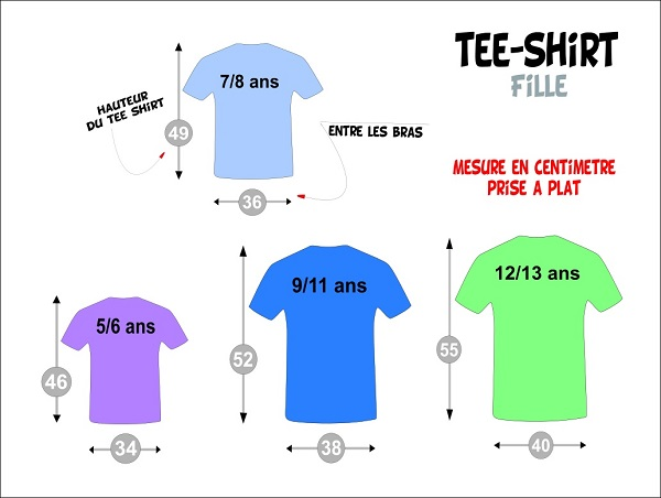 tee shirt fillette