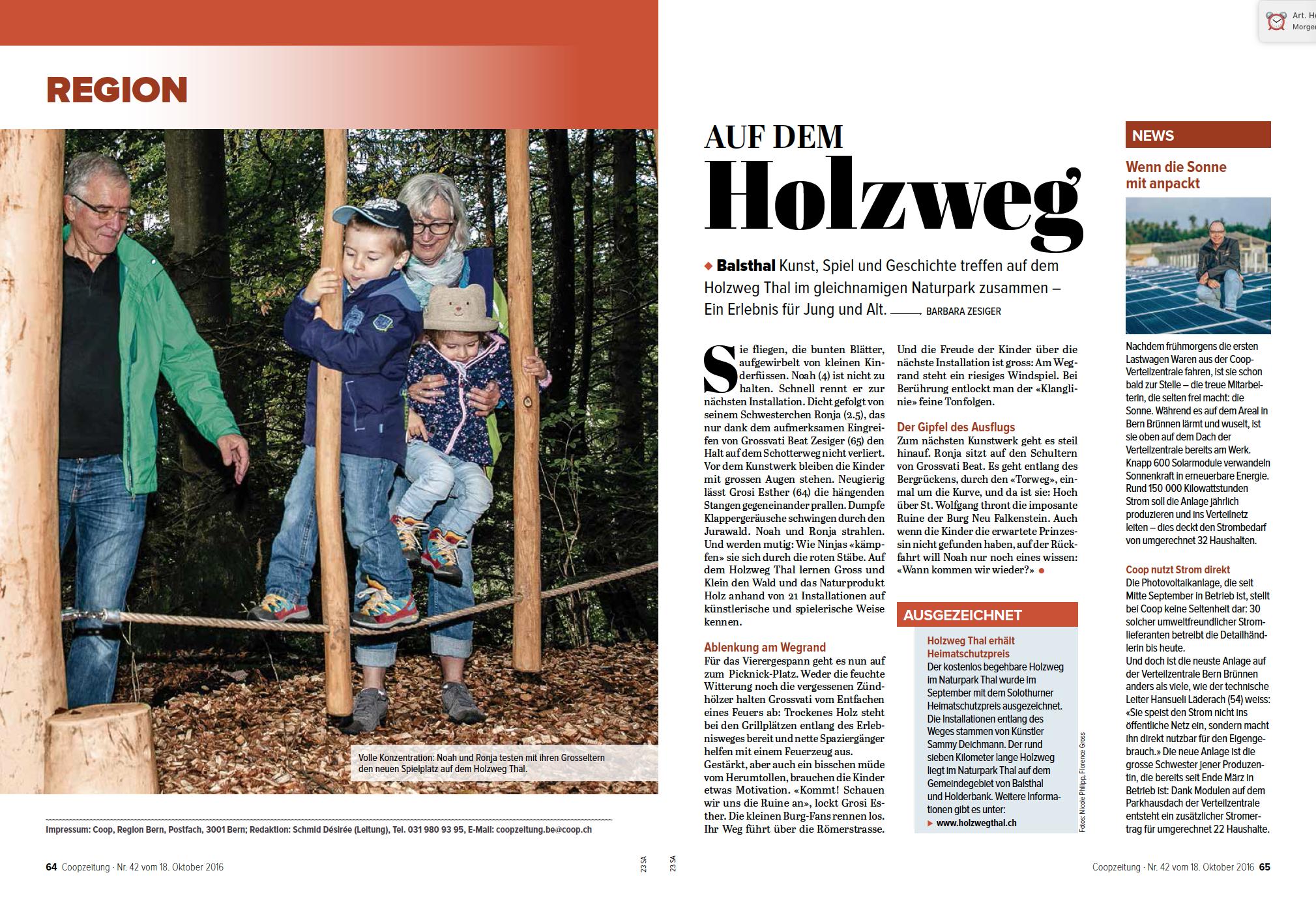 Coopzeitung - Nr. 42 vom 18. Oktober 2016