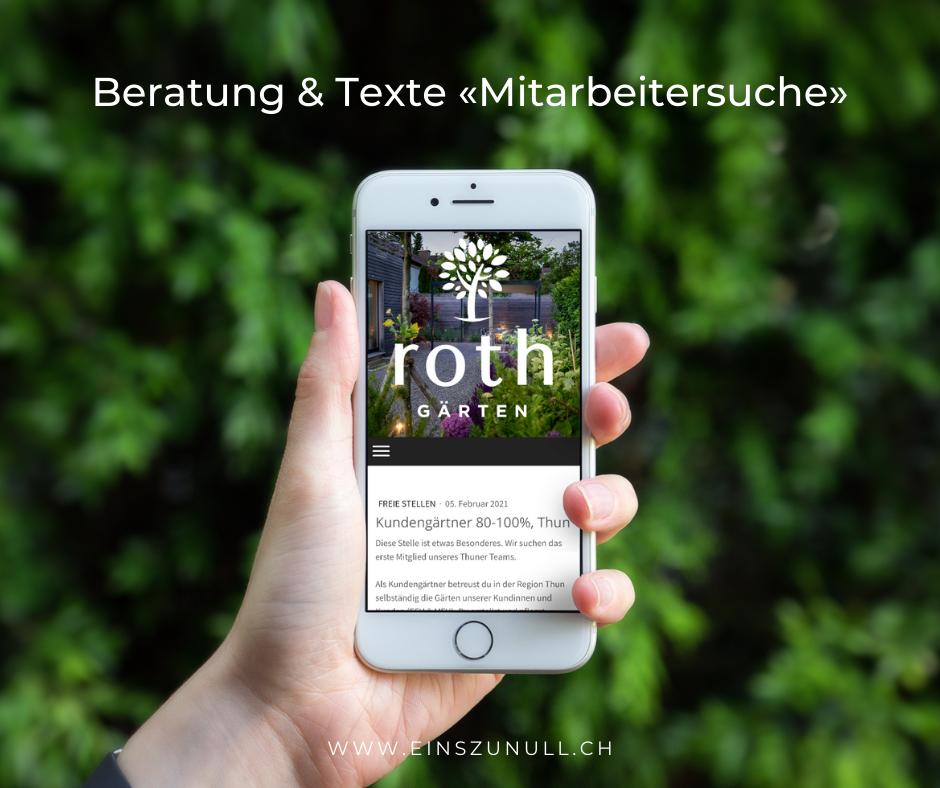 Unterstützung bei der Mitarbeitersuche für die Roth Gärten GmbH