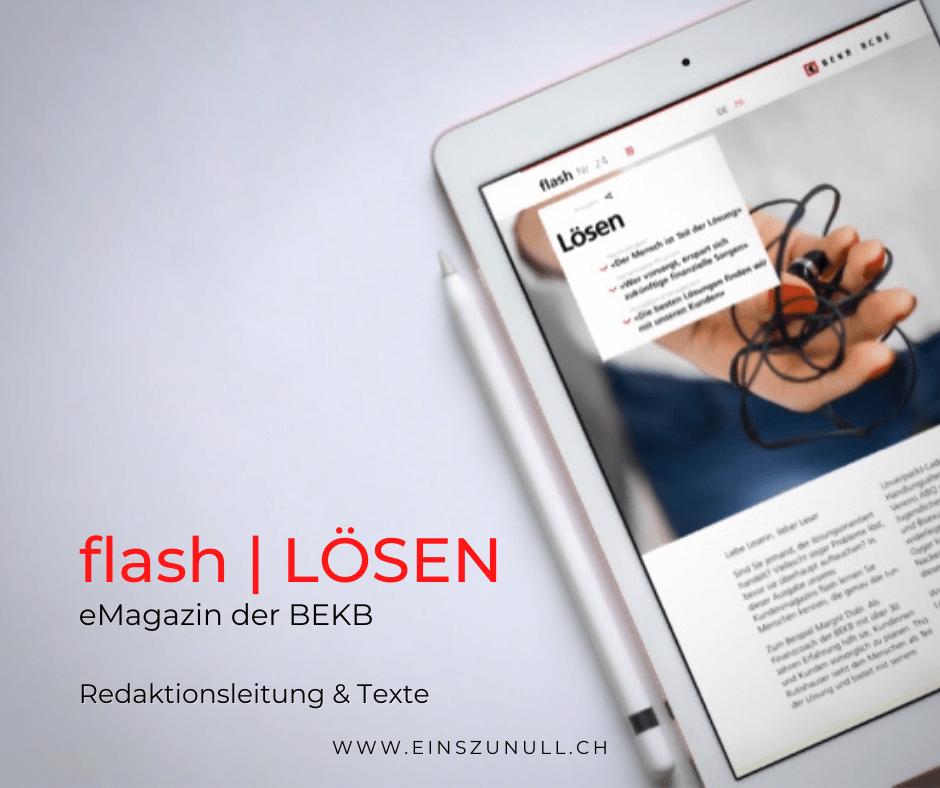 «LÖSEN»: Das neue BEKB flash ist online!