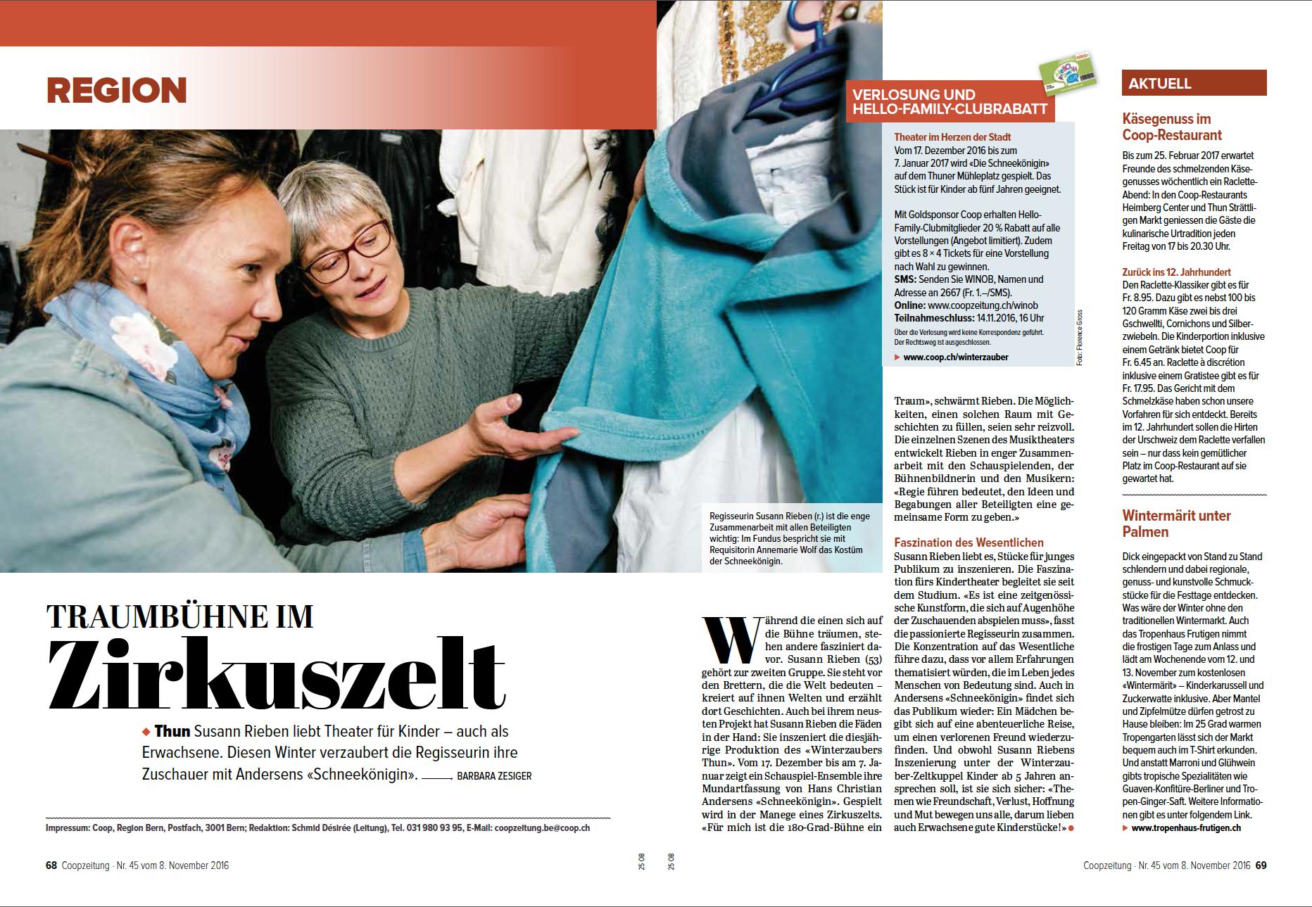 Coopzeitung - Nr. 45 vom 8. November 2016